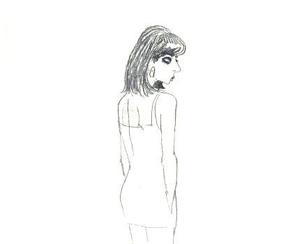 Портрет девушки Томы (карандаш), 1996.
